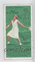 Miss M. C. Scriven (Forehand Drive) [Poor to Fair]