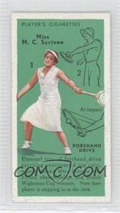 1936 Player's Cigarettes Tennis - Tobacco [Base] #12 - Miss M. C. Scriven (Forehand Drive)