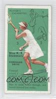 Miss K. E. Stammers (Forehand Drive)