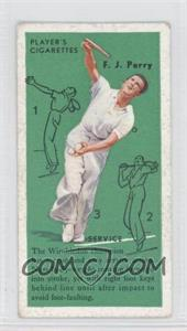 1936 Player's Cigarettes Tennis - Tobacco [Base] #2 - Fred Perry (Service)
