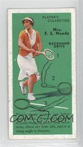 1936 Player's Cigarettes Tennis - Tobacco [Base] #21 - Mrs. F.S. Moody (Backhand Drive)