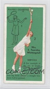 1936 Player's Cigarettes Tennis - Tobacco [Base] #3 - E.F. Whittingstall (Service)