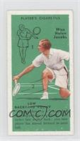 Miss Helen Jacobs (Low Backhand Volley)