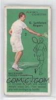G. Lyttleton Rogers (Backhand Cross-Volley) [Good to VG‑EX]