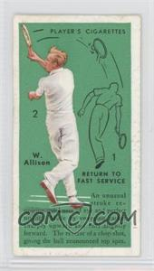 1936 Player's Cigarettes Tennis - Tobacco [Base] #4 - Wilmer L. Allison (Return to Fast Service)