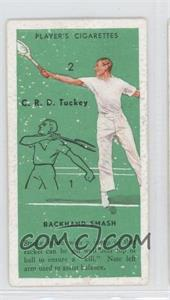 1936 Player's Cigarettes Tennis - Tobacco [Base] #48 - C.R.D. Tuckey (Backhand Smash) [Good to VG‑EX]