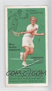 1936 Player's Cigarettes Tennis - Tobacco [Base] #5 - Miss Nellie Adamson (Forehand Drive)