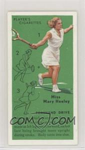 1936 Player's Cigarettes Tennis - Tobacco [Base] #6 - Miss Mary Heeley (Forehand Drive)