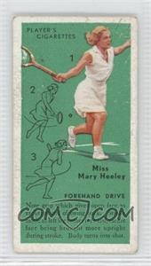 1936 Player's Cigarettes Tennis - Tobacco [Base] #6 - Miss Mary Heeley (Forehand Drive) [Good to VG‑EX]