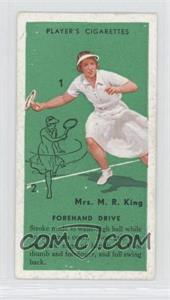 1936 Player's Cigarettes Tennis - Tobacco [Base] #7 - Mrs. M.R. King (Forehand Drive)