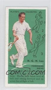 1936 Player's Cigarettes Tennis - Tobacco [Base] #8 - H.G.N. Lee (Forehand Drive)