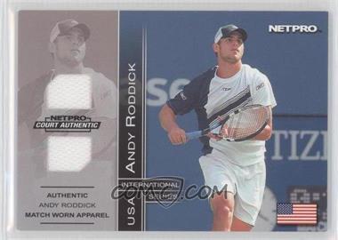 2003 NetPro International Series - Court Authentic - Apparel [Memorabilia] #1D - Andy Roddick
