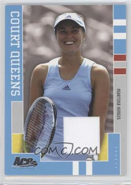 2005 Ace Authentic Signature Series - Court Queens - Relics [Memorabilia] #CQ-8 - Martina Hingis /250