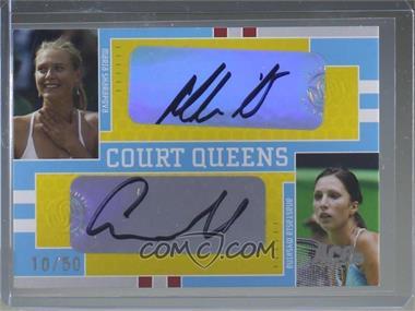 2005 Ace Authentic Signature Series - Court Queens Dual Signatures #CQ-11 - Maria Sharapova, Anastasia Myskina /50 [EXtoNM]