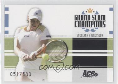 2005 Ace Authentic Signature Series - Grand Slam Champions #GS-9 - Svetlana Kuznetsova /500