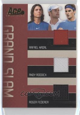 2006 Ace Authentic Grand Slam - Grand Slam - Materials [Memorabilia] #GS-2 - Rafael Nadal, Andy Roddick, Roger Federer