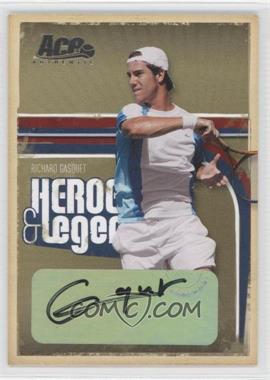 2006 Ace Authentics Heroes & Legends - [Base] - Autographs [Autographed] #26 - Richard Gasquet /275