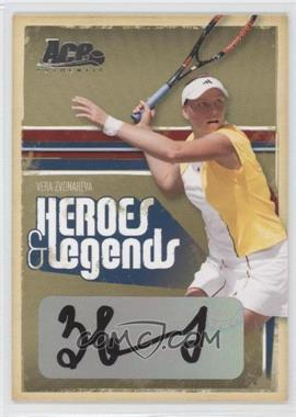 2006 Ace Authentics Heroes & Legends - [Base] - Autographs [Autographed] #99 - Vera Zvonareva /250