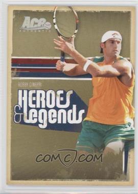 2006 Ace Authentics Heroes & Legends - [Base] - Holofoil #27 - Robby Ginepri /100