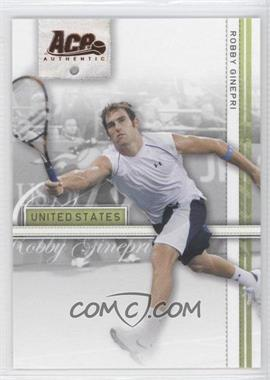 2007 Ace Authentic Straight Sets - [Base] - Bronze #33 - Robby Ginepri
