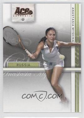 2007 Ace Authentic Straight Sets - [Base] - Bronze #4 - Anastasia Myskina