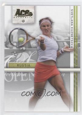 2007 Ace Authentic Straight Sets - [Base] - Gold #36 - Svetlana Kuznetsova /25