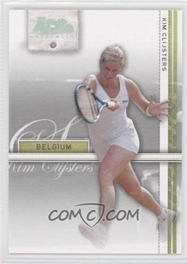 2007 Ace Authentic Straight Sets - [Base] - Silver #20 - Kim Clijsters /99