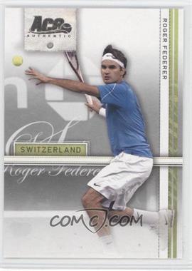 2007 Ace Authentic Straight Sets - [Base] #34 - Roger Federer