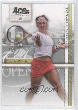 2007 Ace Authentic Straight Sets - [Base] #36 - Svetlana Kuznetsova
