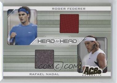 2007 Ace Authentic Straight Sets - Head to Head - Materials [Memorabilia] #HH-6 - Roger Federer, Rafael Nadal