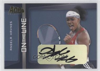 2007 Ace Authentic Straight Sets - On the Line - Autographs [Autographed] #OL-2 - Angela Haynes
