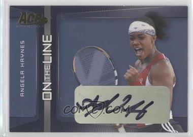 2007 Ace Authentic Straight Sets - On the Line - Autographs [Autographed] #OL-2 - Angela Haynes