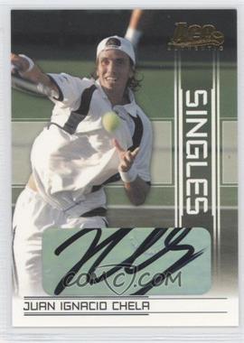 2007 Ace Authentic Straight Sets - Singles - Autographs [Autographed] #SI-10 - Juan Ignacio Chela