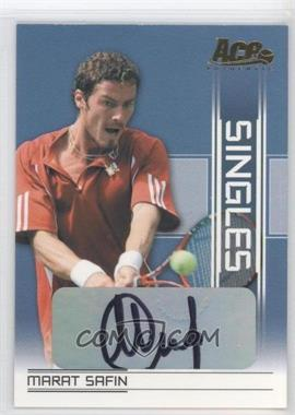 2007 Ace Authentic Straight Sets - Singles - Autographs [Autographed] #SI-17 - Marat Safin