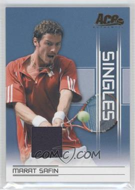 2007 Ace Authentic Straight Sets - Singles - Materials [Memorabilia] #SI-17 - Marat Safin