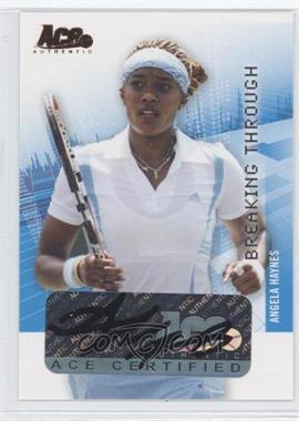 2008 Ace Authentic Grand Slam II - Breaking Through Autographs - Bronze #BT7 - Angela Haynes