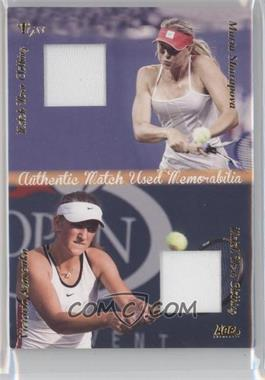 2012 Ace Authentic Grand Slam 3 - Match Used Clothing Dual #DMS4 - Maria Sharapova, Victoria Azarenka