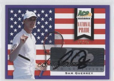 2013 Ace Authentic Grand Slam - National Pride - Purple #NP-SQ1 - Sam Querrey /25
