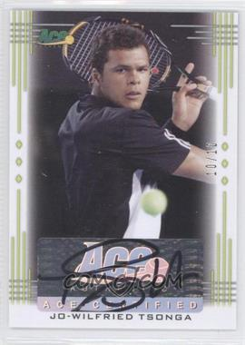 2013 Ace Authentic Signature Series - [Base] - Lime Green #BA-JWT - Jo-Wilfried Tsonga /10