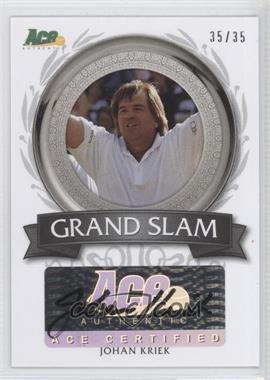 2013 Ace Authentic Signature Series - Grand Slam Autographs #GS-JK2 - Johan Kriek /35