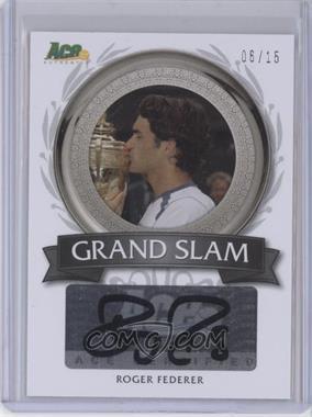 2013 Ace Authentic Signature Series - Grand Slam Autographs #GS-RF1 - Roger Federer /15