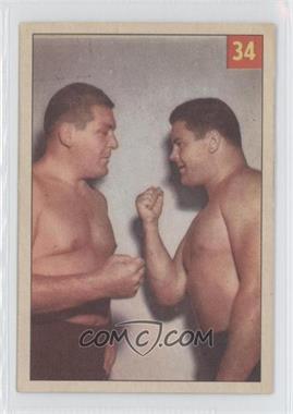 1955-56 Parkhurst Wrestling - [Base] #34 - Hassen Bey