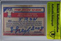 The Iron Sheik [BAS Certified BGS Encased]