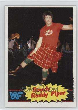 1985 Topps WWF - [Base] #7 - Roddy Piper