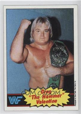 "1985 Topps WWF - [Base] #9 - Greg ""The Hammer"" Valentine"