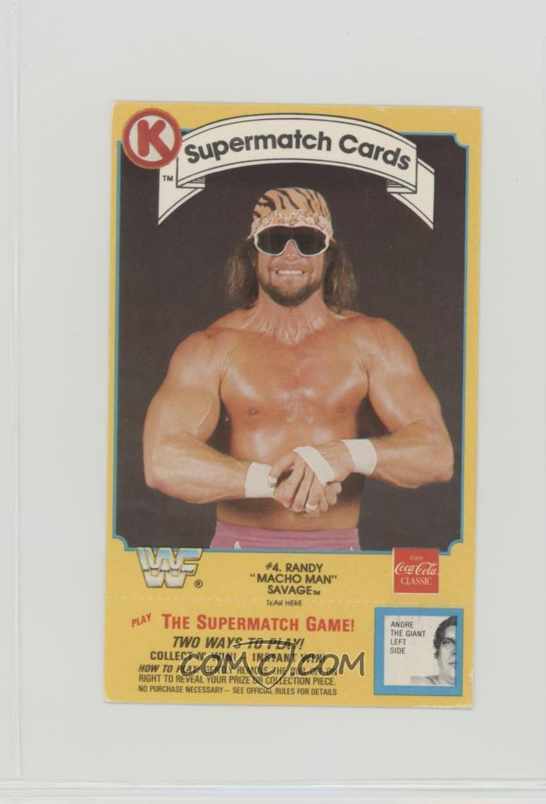 1987 Circle K Wwf Supermatch Game Base 4 Randy Savage