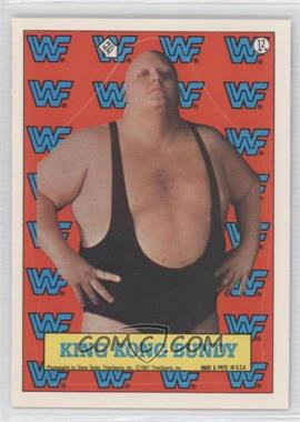 1987 Topps WWF - Stickers #12 - King Kong Bundy
