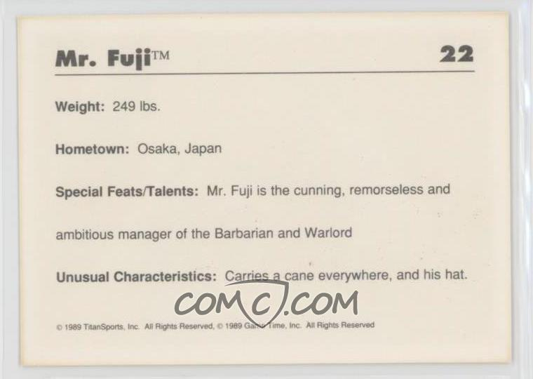1989 Classic WWF - [Base] #22 - Mr  Fuji