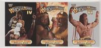 Wrestlemania IV-VI (Miss Elizabeth, Randy Savage, Hulk Hogan, Ultimate Warrior)