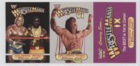 Wrestlemania, Wrestlemania VI, and Wrestlemania IX (Hulk Hogan, Mr. T, Ultimate…